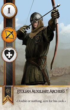 Etolian Auxiliary Archers (Gwent Card) - The Witcher 3: Wild Hunt