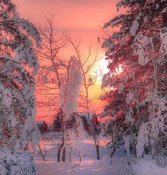 Manitoba winter sunset by Manitoba Prairie Girl Who TakaLottaPictures / 500px
