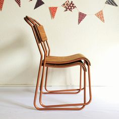 Chair Seat vintage style color copper  model por ChouetteFabrique