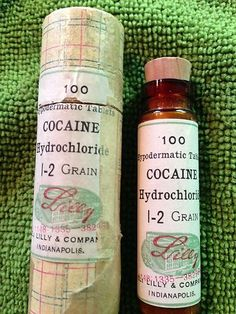 1906 Cocaine Hydrochloride 100 tablets. Lilly and Company