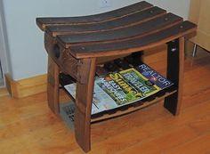 #Bonanza #Wine #Barrel #Stave #Bench #Stool #Wood #Handmade #Rustic #Vintage…