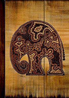 Präsent #Notizbuch Motiv #AfricanArt #Elefant