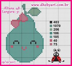 Kawaii Cross Stitch, Small Cross Stitch, Cross Stitch Baby, Cross Stitch Charts, Cross Stitch Patterns, Needlepoint Patterns, Cross Stitching, Crochet Hats, Kids Rugs