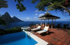Le Gallerie - the Best Location on Saint LuciaVacation Rental in Soufriere from @homeaway! #vacation #rental #travel #homeaway