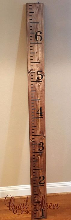 Hand Painted Wood Growth Chart or Rulers. Keep your child's measurements no…