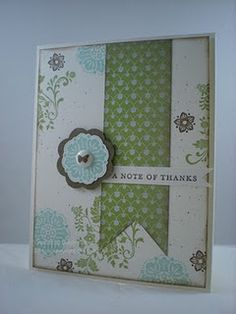 This is one of my favorite blogs.  I love her style.  Stamp Set: Fresh Vintage