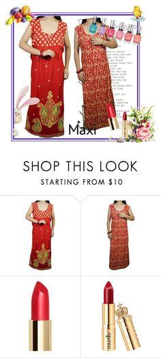 Red Nightwear by globaltrendzs-flipkart on Polyvore  nighty  women  maxi   nightwear 1f13163cc