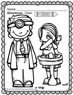 Dental Health Coloring Sheets Pages For