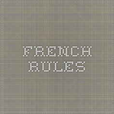 French Rules
