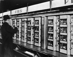Automats. They had these in Philly. My grandmother always took me when I visited.