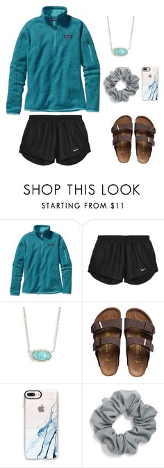 """Studying"" by preppy-southerngirl ❤ liked on Polyvore featuring Patagonia, NIKE, Kendra Scott, Birkenstock, Casetify and Natasha"