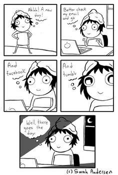 Today on Sarah's Scribbles - Comics by Sarah Andersen Sarah See Andersen, Sarah Anderson Comics, Sara Anderson, Bd Comics, Cute Comics, Funny Comics, Sarah's Scribbles, The Awkward Yeti, 4 Panel Life