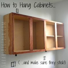 How to Install Kitchen Cabinets   Pinterest   Hanging cabinet ...