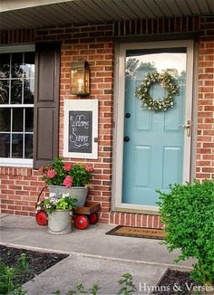 Superior Parade Of Homes Tour ~ Hymns And Verses. Teal Front DoorsAqua ...