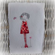 the reds unframed original stitched drawing by LiliPopo on Etsy