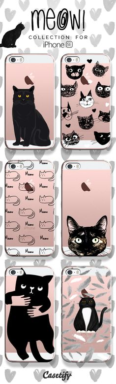 Meow! Shop these cute kitten phone cases for iPhone SE here: https://www.casetify.com/artworks/NtlCOpTON1 #animal | @casetify