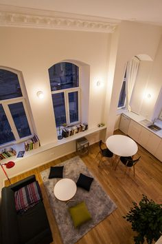 apartment makeover Small Apartment Design within a Brick House in Vilnius, Lithuania