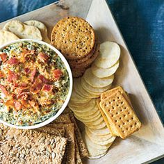 Turnip Greens Dip!  She lightened the recipe by using veggie bacon, fat free cream cheese and light sour cream.  Excellent reviews on Southern Living.