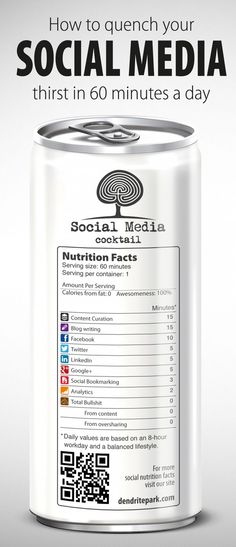 #Infographic : Cocktail #Social #Media