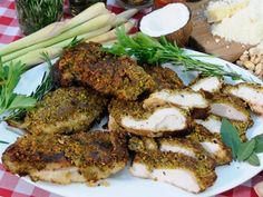 Pistachio-Crusted Chicken with Coconut-Chili-Ginger Sauce