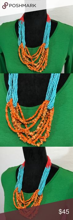 Anthropologie Jewelry Beaded Rock Necklace Pre-loved Anthropologie Jewelry Necklaces