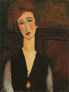 Amedeo Modigliani - Portrait of a Woman, 1917, oil on canvas, 65 x 48.3 cm, The Cleveland Museum of Art, Ohio