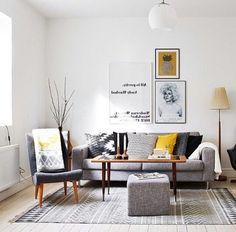 Intelgent Modern Living Room Scandinavian Decoration for Your Home Chic Living Room, Living Room Modern, Living Room Furniture, Living Room Designs, Living Rooms, Scandinavian Furniture, Scandinavian Living, Decoration Gris, Black And White Living Room