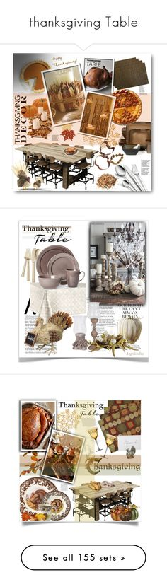 """""""thanksgiving Table"""" by virtual-closet-collector ❤ liked on Polyvore featuring interior, interiors, interior design, home, home decor, interior decorating, WMF, Kith & Kin, LaMont and Heritage Lace"""