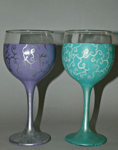Special Vine Wine Glass by SassysGlassies on Etsy, $20.00
