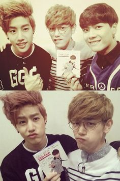 Eric Nam with GOT7's Mark and Jackson