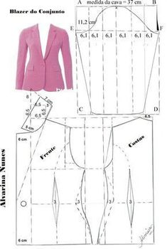 Sewing Patterns - Coat Patterns - Jacket Patterns - Bolero Pattern - Skirt Patterns - Blazer Pattern - Sewing Tutorials - Sewing E-book Coat Patterns, Dress Sewing Patterns, Sewing Patterns Free, Clothing Patterns, Vintage Patterns, Sewing Clothes Women, Diy Clothes, Clothes For Women, Blazer Pattern