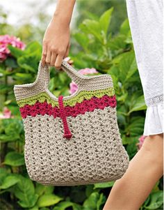 Crochet handbag pattern from Bergere de France Summer magazine 172 available from Cocoonknits