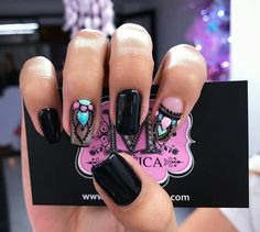 This style of this nail art uñas pretty nails, cute nails y gel nails. Gel Nail Art, Acrylic Nails, Hair And Nails, My Nails, Rose Nails, Pretty Nail Designs, Flower Nail Art, Nail Polish Designs, Finger
