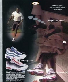 de0376d3ca Vintage Ad Special Feature: Nike Air Max Ad Insert. See more. Nike Air Max,  Adidas Sneakers, Adidas Shoes
