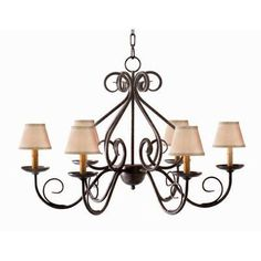 2nd Ave Design Jenna 6 Light Shaded Chandelier Finish: Golden Verde Premium, Shade: Aged Celadon Parchment