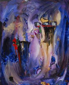 """""""Sci Fi Cabaret"""" 3D Oil on Canvas, 48"""" x 60"""" by artist JD Miller. See his portfolio by visiting www.ArtsyShark.com"""