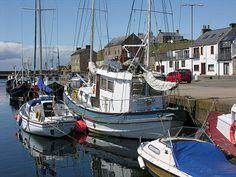 Burghead harbour, Moray, Scotland.