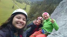 Meiner türkischen CouchSurferin mal das Alpenvorland gezeigt und ihre Leidenschaft fürs Klettern geweckt.