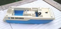 Vintage 1976 Fisher Price Sea Explorer Boat only # 310 by Barostores on Etsy