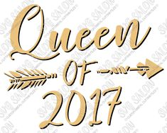 Queen of 2017 Feather Arrow SVG Cut File Set
