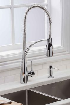 Buy the Elkay Chrome Direct. Shop for the Elkay Chrome Avado GPM Single Hole Pre-Rinse Pull Down Kitchen Faucet and save. Contemporary Kitchen Faucets, Contemporary Kitchen, Elkay, Faucet Design, Kitchen Handles, Popular Kitchens, Fancy Kitchens, Kitchen And Bath, Sink