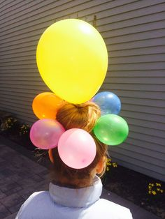 My daughter's idea for crazy hair day at school.