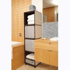 Yube Cube Bathroom Tower Shelves