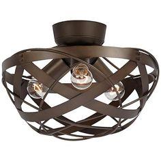 Possini euro design crystal 11 round ceiling fan light kit 120 orbital weave oil rubbed bronze fan light kit 9897 14 x 8 3 x 13watt cfl bulbs or 3 x 60 watt a 15 medium base bulbs aloadofball Image collections