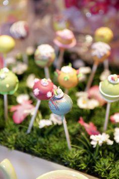 A garden growing cake pops