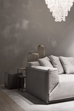 MERIDIANI I BACON Kuoio sofa with saddle leather shell - design by ANDREA PARISIO
