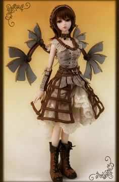Bjd de la Compagnie Steam Rosette, modèle Delilah-Iron-Laced Lady - Steampunk BJD doll