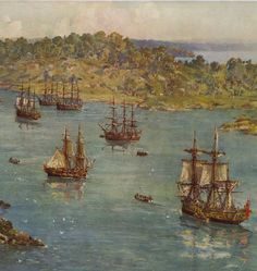 The First Fleet arrives in Australia. 26 January 1788.