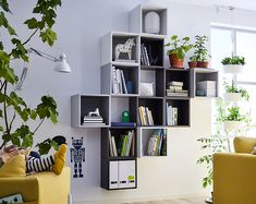Stack them, hang them or combine them in thousands different ways. IKEA EKET open wall cabinets in neutral colors and two different depths can be moved around when needs change, or if you just want to try another combination.