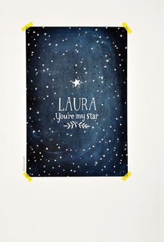 You're My STAR glow in the dark  personalized print